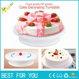 Wholesale make cake decorating - Cake Making Turntables Anti-skid Plastic Rotating Decorating Platform Stand Display Cake Rotary Tables