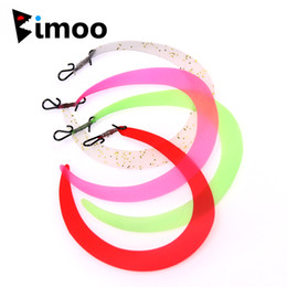 Wholesale trout flies wholesalers - wholesale 50PCS M Pretied Fishing Fly Wiggle Tails Lure   Jig Tails with Quick Snap for Predator Pike Trout Bass Saltwater Fishing