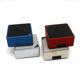 Wholesale bluetooth speake - Q7 cube Wireless Bluetooth Speaker Car Handsfree Receive Call Music Mic AUX USB Port TF Card Speake DHL free