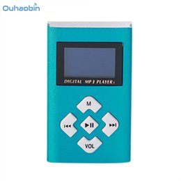 Wholesale Green Screen Games - Ouhaobin Popular USB Mini MP3 Player LCD Screen Support 8GB Micro SD TF Card Multicolor Portable Mp3 Music Player Oct9