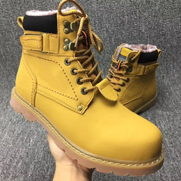Wholesale Christmas Workers - High-top Workers Shoes Boots Add Wool Warm Shoes Men and Women shoes Out Side Big one yards Big size EUR 34-44