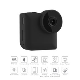 mini grabadora de video recargable Rebajas Mini cámara de WiFi portátil de la acción de la seguridad en el hogar P2P en tiempo real teledirigida cámara de la niñera video de la visión nocturna