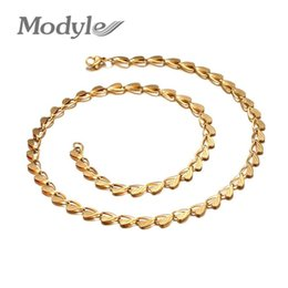 Wholesale Chunky Snake Chain Necklace - whole saleModyle Gold-Color Stainless Steel Heart Necklace Men Jewelry Wholesale Free Shipping New Trendy Chunky Snake Chain Necklace