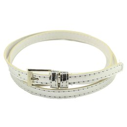 Wholesale Women Thin Leather Belt - 2017 Fashion New Hot Beautiful Woman Multicolor Small Candy Color Thin Leather Belt Ms Belt Europe 100% leather high quality