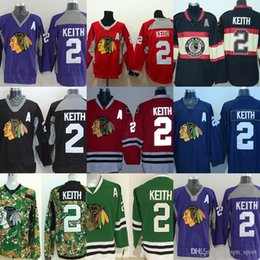 0ee91045 Hot Slae Mens Chicago Blackhawks 2 Duncan Keith Cheap Purple Red Beige Black  Blue Camo Green Best Quality 100% Stitched Ice Hockey Jerseys chicago camo  ...