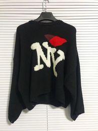 2018 nuevos Raf simons Suéter de gran tamaño sudaderas con capucha Hombres Mujeres Unisexual Pocket Knit Shirt Moda Negro Manga Larga Envío Gratis 888 desde fabricantes