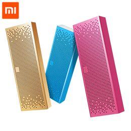 Wholesale Pocket Speakers - Original Xiaomi Mi Bluetooth Speaker Wireless Stereo Mini Portable MP3 Player Pocket Audio Support Handsfree TF Card AUX-in
