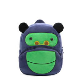 Enfants école sac à dos de bande dessinée orang-outan conception confortable tissu en peluche pour tout-petit bébé garçon maternelle enfants jouets sac d'école ? partir de fabricateur