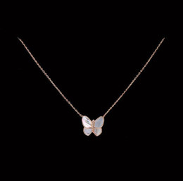 Wholesale C Fashion Necklace - whole saleOL Style Fashion White Shell Butterfly Necklace Micro Pave AAA Premium Zircon Crystals Gold-C Clavicle Necklace for Women