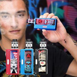 Cool cigarettes électroniques en Ligne-100 W Top Entrée D'air Fumée Cessation Cigarette Électronique grande Fumée Corps En Métal Vaporisateur Atomiseur Vaporisateur Kit Avec Cool Autocollants