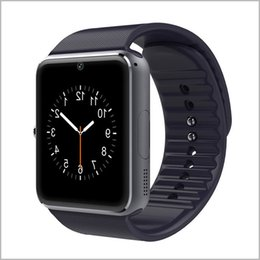 Wholesale Wholesale Watchs - GT08 Bluetooth Smart Watch with SIM Card Slot and TF Health Watchs for Android Samsung Phones and IOS Apple iphone Bracelet Smartwatch MQ20