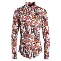 Футболки бренды фарфор онлайн-2018  Business Male Dress shirt Slim Casual Full sleeve China style Print Camisas masculina High quality 100% Cotton Shirts
