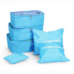 Wholesale Wire Cubes - 6PCS Waterproof Clothes Storage Bags Packing Cube Travel Luggage Organizer Pouch Drop shipping4.24 25%
