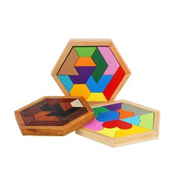 Wholesale Wooden Heart Shapes Wholesale - Children Educational Building Block Heart Shaped Colorful Toy Eleven Pieces Shape Cognition Wooden Puzzle Early Childhood Blocks 8cb W