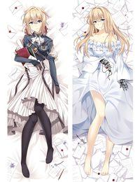 travesseiro anime japonês abraço Desconto Anime japonês Dakimakura Cattleya Baudelaire Viole abraços corpo travesseiro caso capa Throw Pillow Covers feminino Presentes kawai bonito