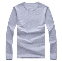 2019 material de camiseta de algodão Homens da moda camisas polos Homens camisetas polo Em Torno do pescoço Mangas compridas t shirt polo t-shirt Tops Tees material de Algodão Tamanho S-XXL material de camiseta de algodão barato