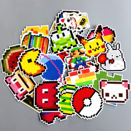 Wholesale Decal Mario - TD ZW 25Pcs lot Cartoon Mario Pixel Style Sticker For Car Laptop Lage Skateboard Backpack Tables Case Decal Kids Toy Sticker