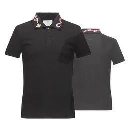 Hochwertiges straßent-shirt online-Top-Qualität Sommer Baumwolle T-Shirts T-Shirt Schlange Stickerei Straßen Luxus schwarz weiß 16522