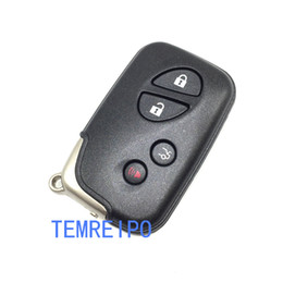 Wholesale Lexus Key Covers - 4 Buttons Remote Smart Car Key Case Cover Shell For Lexus