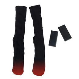 accesorios de fitness al por mayor Rebajas 1 par de calcetines calentados al aire libre de la batería térmica algodón hombres mujeres calcetín calcetines calentadores de invierno calcetín eléctrico