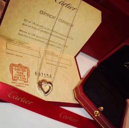 Deutschland Luxuriöser Stil S925 Sterling Silber und Markennamen-Anhänger-Halskette mit hohlem Herz und Diamant in 45 cm Länge für Frauen, die das Geschenk je Versorgung