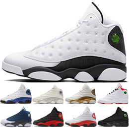 polyester cotton hot Coupons - Hot New 13 13s Mens Basketball Shoes Phantom Chicago 3M GS Hyper Royal Black Cat Flints Bred Olive Green Brown mens sport sneaker designer