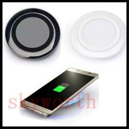 chargeur de téléphone lumière bleue Promotion Chargeur sans fil universel Qi de haute qualité pour Samsung Note8 Galaxy s7 Edge s8 plus note8