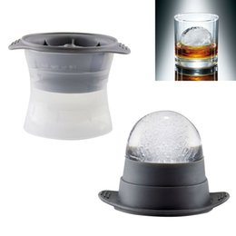 "Palle di ghiaccio rotonde online-2 pezzi Sphere Ice Molds Perfect 2 ""Ice Ball Maker per cocktail lenti-fusione Cocktail di whisky bevanda rotonda Ice Mold Hk066"