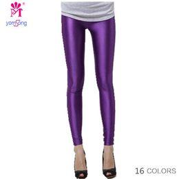 Leggings de tamanho mais tamanho on-line-Plus Size Candy Color Mulheres de alta moda esticada Summer Best Selling Neon Leggings Female Slim leggings 101