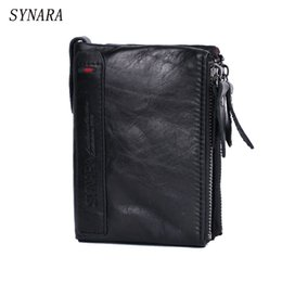 Wholesale Leather Business Card Wallet Price - SYNARA Brand men wallets dollar price purse Genuine leather wallet card holder designer clutch business mini wallet high quality