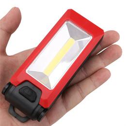 2019 luz de trabalho dobrável Gancho de dobramento magnético da luz do trabalho do diodo emissor de luz que pendura a tocha antiderrapante da lanterna elétrica luz de trabalho dobrável barato
