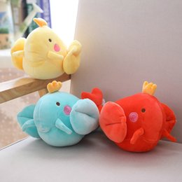wholesale toys lobster Coupons - 25cm Creative Cartoon 3 Colors Small Lobster Plush Toy Doll Children Cute Shrimp Cloth Doll Kids Toys Pillow Baby Gift