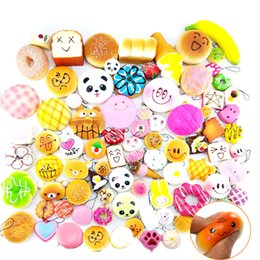 Wholesale Bread Mixes - 10pcs lot Kawaii Squishies Bun Toast Donut Bread for cell phone Bag Charm Straps Wholesale mixed Rare Squishy slow rising lanyard scented