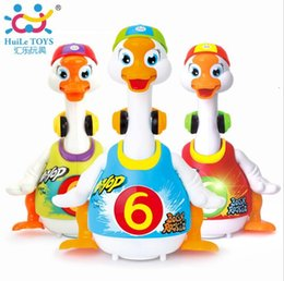 Wholesale Baby Geese - Electronic Walking Dancing Toy Intelligent Hip Pop Dance Read Tell Story Interactive Swing Goose Musical Educational Baby Toys
