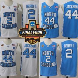 Wholesale army heels - North Carolina UNC Tar Heels Final Four Phoenix 2017 Championship 2 Joel Berry II 44 Justin Jackson College Basketball Jerseys White Blue