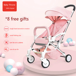 Wholesale Kinderwagen Stroller - Baby Throne Lightweight Baby Stroller Umbrella Cart Prams Kinderwagen Bebek Arabasi Portable Folding Baby Car Carriage Travel Strollers