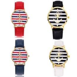 relógio estilo genebra ouro Desconto Estilo de âncora de natal vestido genebra assista mulheres rose gold color moda assista mulheres dress relógios relógios de couro 8 cor