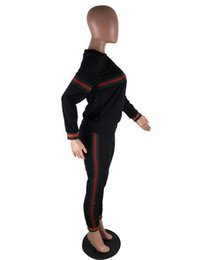 Wholesale Animal Print Yoga Pants - 2018 PINK Tiger head High quality sports suit, long sleeved coat plus long pants, 2 pieces,YEEZUS JUSTIN BIEBER fitness suits Free Delivery