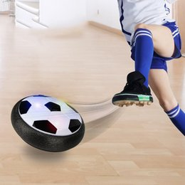 Wholesale Electric Cushion - New Classic Children Toys Suspension Soccer LED Electric Air Cushion Football Pneumatic Disk For Kids Boy Indoor Game Toy