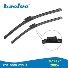 "Wholesale Ford Hatchbacks - Car Windshield Wiper Blades For Ford Focus Hatchback Sedan 2005- Pair 26""+17"" Natural Rubber,Bracketless,Auto Accessories"