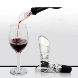 Decantador de vino de silicona online-Botella de embudo de vino tinto Botella Pourer Silicona Caucho aireador Decanter Pourer