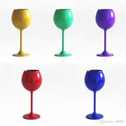 2019 copas de vino de tallo 350 ml copas de vino de acero inoxidable copas de una sola capa Copas de vino tinto copas de vino de vino Bardian venta caliente 20 dj dd copas de vino de tallo baratos
