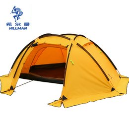 Wholesale Big Tents Camping - HILLMAN 3-4 MAN double layers tent big space aluminum poles 210T waterproof ultralight outdoor camping Spherical tent