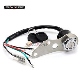 Wholesale Switch Suzuki - 4 wires Lgnition Switch Key Lock Set for SUZUKI DRZ 400 S SM DR-Z400S DR-Z400SM
