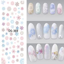 Grande stella di natale online-1 Pz Colorful Snowflake Star Smile Face Watermark Grande foglio adesivo decalcomania DS-364-372 Giappone Nail Sticker Nail