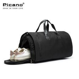 Sacolas de viagem de terno on-line-Picano Saco de Viagem Multifuncional Viagem Duffle Bags para Homens Dobrável Saco de Grande Capacidade Duffel Dobre Terno Sacos de Vestuário PCN059