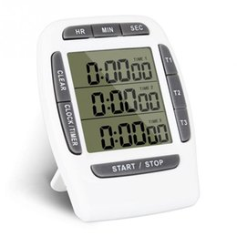 Wholesale Countdown Timer Display - Multifunctional Kitchen Cooking Timer 3 Display Channels Electronic Countdown Function Timers Time Counting Device