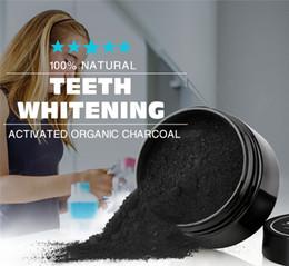 Argentina 2018 polvo de dientes de carbón 30 gramos caja de color de envases negro de carbón activado polvo de limpieza de cáscara de coco Blanqueamiento dental 0213031 Suministro