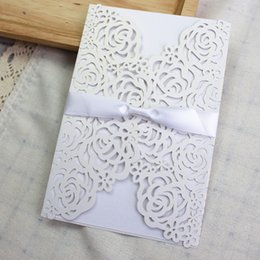 Wedding invitation cards maker nz buy new wedding invitation cards hot vintage wedding laser cut invitation white elegant wedding paper cards china wedding card maker supply stopboris