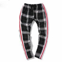 Wholesale Plaid Flannel Pants - Men's Pants Fleece Plaid Harem Casual Pants Thick Flannel Inside Men's Pants Winter Warm Stripe Sweatpants Joggers